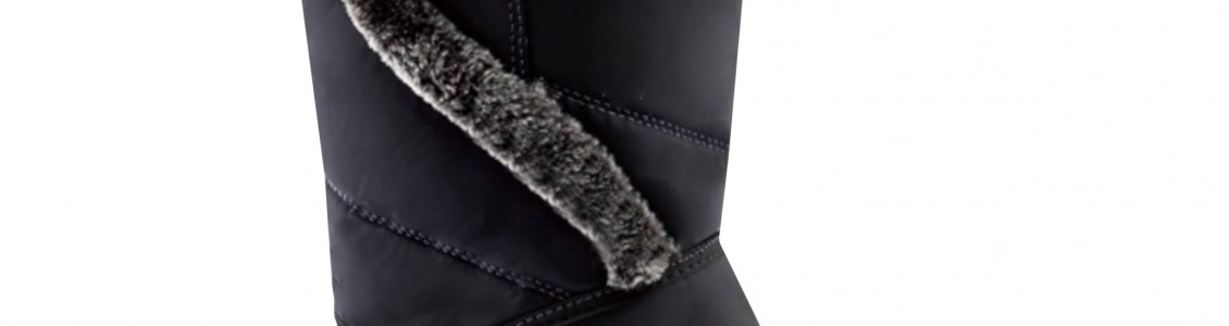 Rubber boots with faux fur