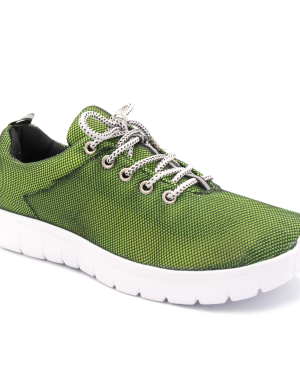 Sneakers for women 2502 green-black  wholesale