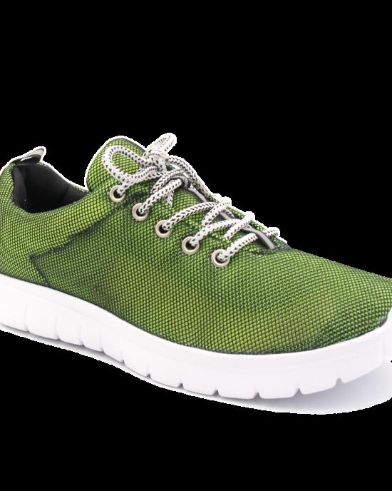 Sneakers for women 2502 green-black  wholesale